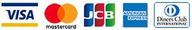 ご使用可能なクレジットカード(VISA|MASTER|JCB|AMEX|DINERS)