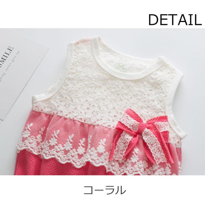 Pearls パールズ ベビー服 ベビー ロンパース 涼しい 女の子
