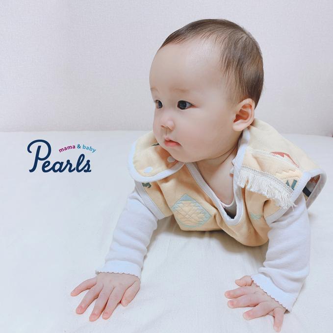 スリーパー ガーゼ ベビー ベビースリーパー 夏用 春夏 赤ちゃん キッズスリーパー パールズ Pearls