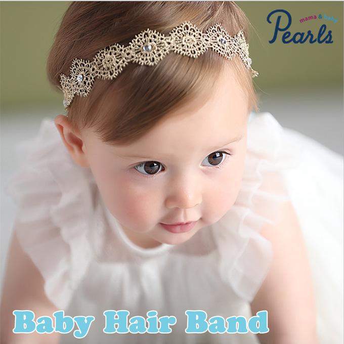 Pearls パールズ ベビーヘアバンド 女の子 お食い初め 初節句 誕生日 記念撮影 写真撮影 結婚式