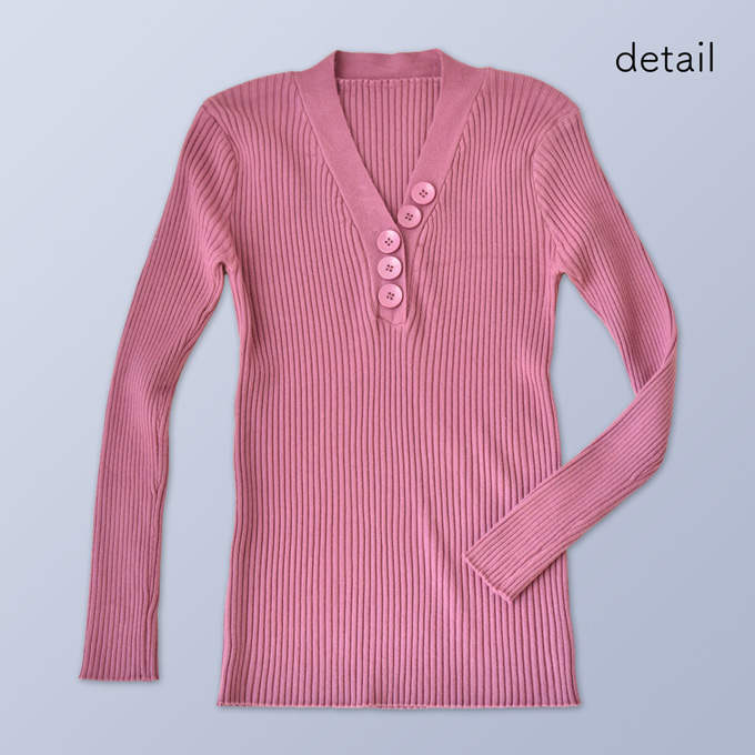 Pearls パールズ 授乳服 トップス リブニット マタニティ 秋 冬 長袖 暖か フィット