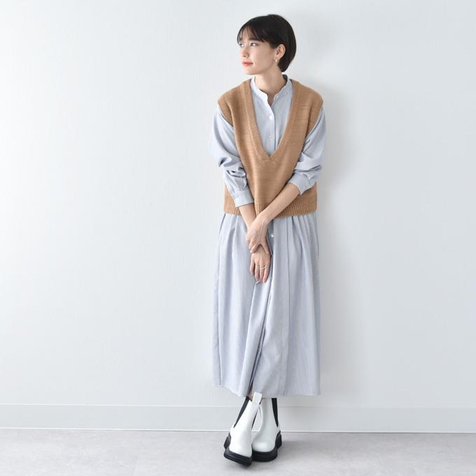 モヘアニットベスト&選べる授乳ロンTee セット Pearls パールズ